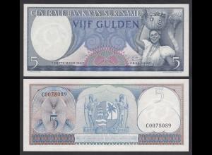 SURINAM - SURINAME 5 Gulden 1963 UNC (1) Pick 120 (26468