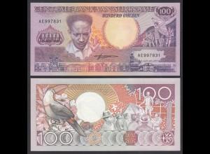SURINAM - SURINAME 100 Gulden 1988 UNC (1) Pick 133b (26469