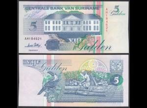 SURINAM - SURINAME 5 Gulden 1996 UNC (1) Pick 136b (26470