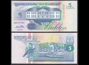 SURINAM - SURINAME 5 Gulden 1995 UNC (1) Pick 136b (26471