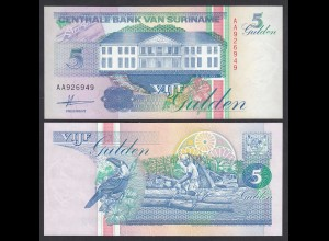 SURINAM - SURINAME 5 Gulden 1991 UNC (1) Pick 136a (26472