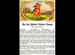 AK A. Broch - Am Rhein Bunte Reihe 202 Walzer Johann Strauss (1448