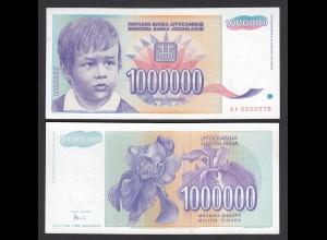 JUGOSLAWIEN - YUGOSLAVIA 1.000.000 1 Million Dinara 1993 UNC (1) Pick 120 (26359