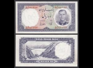 PERSIEN - PERSIA - IRAN - 10 RIALS (1958) Pick 68 UNC (1) Schah Reza (26544