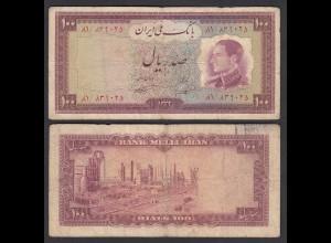 PERSIEN - PERSIA - IRAN - 100 RIALS (1954) Pick 67 F (4) Schah Reza (26545