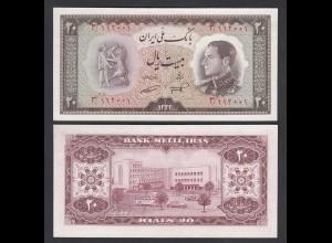 PERSIEN - PERSIA - IRAN - 20 RIALS (1954) Pick 65 UNC (1) Schah Reza (26547