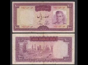 PERSIEN - PERSIA - IRAN - 100 RIALS (1969) Pick 86a VG (5) Schah Reza (26549