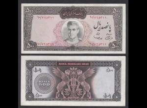 PERSIEN - PERSIA - IRAN - 500 RIALS (1969) Pick 88 XF (2) sig 11 (26551