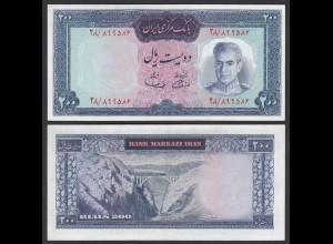 PERSIEN - PERSIA - IRAN - 200 RIALS (1969) Pick 87a UNC (1) sig 11 (26553
