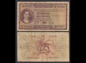 Südafrika - South Africa 10 Shillings 15.1.58 Pick 90c F/VG (4/5) (26554
