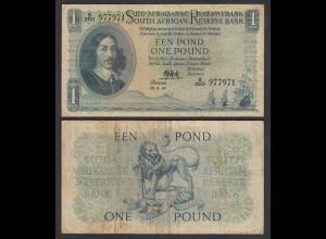 Südafrika - South Africa 1 Pound 10.9.56 Pick 93e F (4) (26563