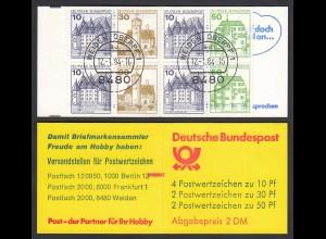 1984 Bund BRD Markenheftchen MH 22 gestempelt mit ZB (26575
