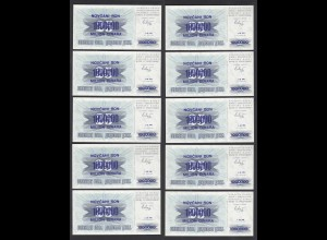 Bosnien Herzegovina - 10 Stück á 1-Million Dinara 1.IX.1993 Pick 35a UNC (1)