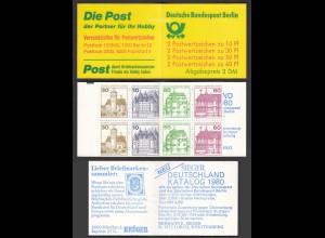 Berlin Burgen und Schlösser Markenheftchen MH 12a postfrisch (26608