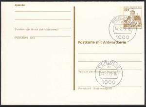 Berlin Postkarte mit Antwortkarte 30/30 Pfg. Mit P111 Ersttag 14.2.79 (26619