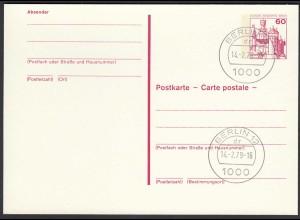Berlin Postkarte 60 Pfg. magenta P110 Ersttag 14.2.79 (26620