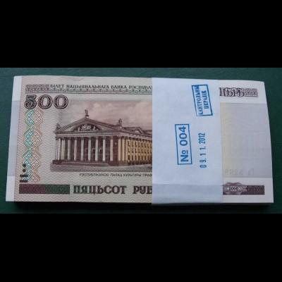 Weißrussland - Belarus 500 Rubel 2000 UNC Pick 27 BUNDLE á 100 Stück (90002