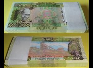 GUINEA - GUINEE 500 Francs 2006 Pick 39a UNC (1) Bundle á 100 Stück (90016