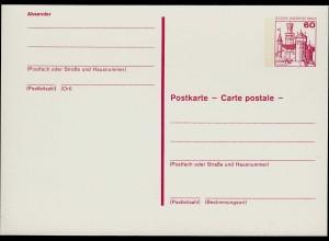 Berlin Postkarte 60 Pfg. Ganzsache magenta P110 (0246