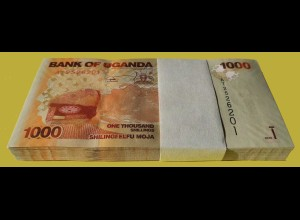 Uganda 1000 Shillings 2010 Pick 49 UNC (1) Bundle á 100 Stück (90018
