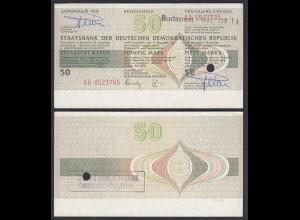 DDR Reisescheck 50 Mark in Budapest Eingelöst 1990 (26638
