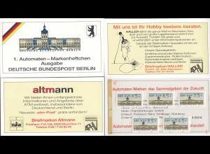 1.Automaten MH Markenheftchen Berlin postfrisch (26648