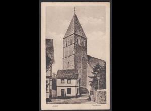AK Soest Paulikirche mit Strasse 1916 gelaufen Feldpost (17007