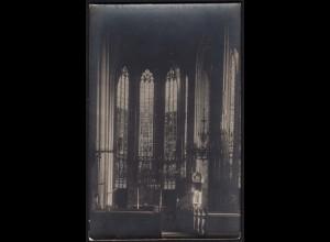 AK Soest Kirche Innenansicht Bleiverglasung ungelaufen (16999