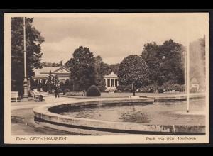 AK Bad Oeynhausen Park vor Kurhaus ungelaufen (17060