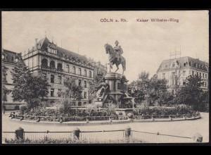 AK Cöln Köln Kaiser Wilhelm Ring 1916 gelaufen (17088