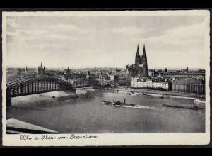 AK Köln vom Pressaturm mit Brücke und Dom 1939 gelaufen (17092