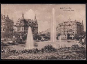AK Köln Deutscher Ring 1920 gelaufen (17102