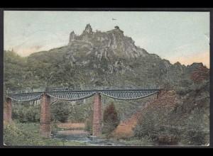 AK Ahrtal Rittersprung bei Altenahr 1909 gelaufen (17172