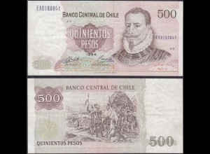 Chile - 500 Escudos Banknote 1994 Pick 153e VF (3) (12829