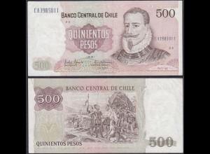 Chile - 500 Escudos Banknote 1991 Pick 153c VF (3) (12831