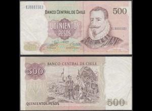 Chile - 500 Escudos Banknote 1999 Pick 153e VF- (3-) (12834