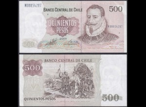 Chile - 500 Escudos Banknote 2000 Pick 153e VF+ (3+) (12836