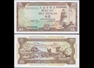 Macau - Macao 10 Petacas Banknote 10-5-1984 Pick 59e UNC (13496