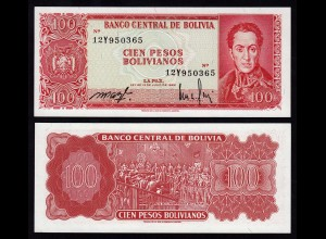 Bolivien - Bolivia 100 Bolivianos 1962 UNC (1) Pick 164A (16391
