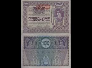 Österreich - Austria 10000 10.000 Kronen 1918 Pick 66 aUNC (1-) 2.Auflage (11768