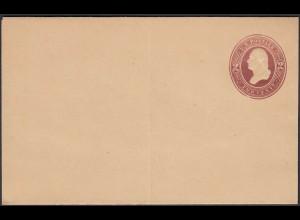 USA Alter 2 Cent Ganzsachen Umschlag ungebraucht (26429