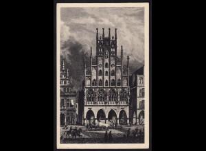 AK Münster Westfalen Rathaus Radierung Kunstkarte (16886