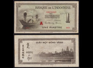 FRENCH INDO-CHINA 1 PIASTRE 1951 Letter A Pick 76b F (4) (17513
