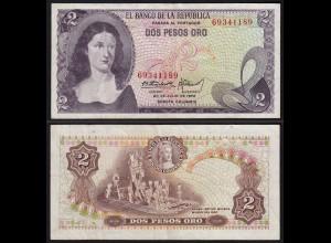 Kolumbien - Colombia 2 Peso Oro 1972 Pick 413a VF (3) (15266