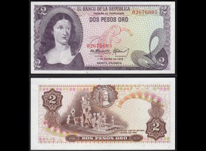 Kolumbien - Colombia 2 Peso Oro 1973 Pick 413a UNC (1) (15267