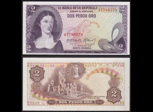 Kolumbien - Colombia 2 Peso Oro 1972 Pick 413a UNC (1) (15265