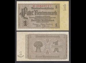 Rentenbankschein Deutsches Reich 1 Rentenmark 1937 Ros 166b aXF (2-) (26401