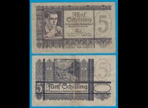 Österreich - Austria 5 Schilling Banknote 1945 Pick 121 F (4) (18834