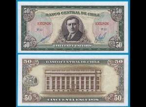 CHILE - 50 Pesos Banknote 1962-75 Pick 140b XF (2) (18845