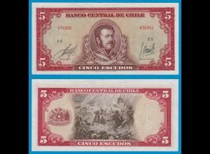 CHILE - 5 Escudos Banknote 1964 Pick 138 XF (2) (18872